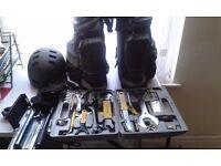 Sahoo Bicycle Repairing Tool Kit, Pannier Bag, Helmet