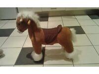 Plush horse ride ons