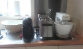 Selection of kitchen eqipment for sale due to down sizeing.