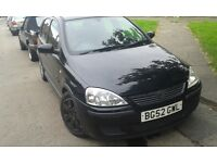 2002 Vauxhall Corsa 1.2 16v SXi 5dr black z 20r 2hu BREAKING FOR SPARES
