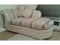 exceptional quality chaise longue and 3 seater sofa like new