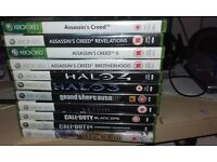 For sale used Xbox 360 Console with 2 x controllers & games