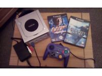 Nintendo GameCube console with Controller, Games and Leads.
