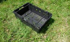 10 Plastic storage tray container baskets