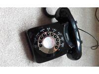 retro home rotary dial telephone