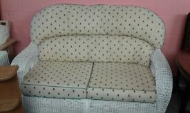 cane 2 seater sofa lovely £65.00