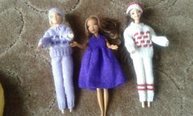 Barbie sized dressed dollys