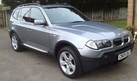 05/05 BMW X3 2.5I AUTO SPORT LPG CONVERSION F/S/H HEATED/LEATHER PAN/ROOF 50MPG+ £5995 P/X