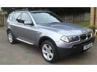 05/05 BMW X3 2.5I AUTO SPORT LPG CONVERSION F/S/H HEATED/LEATHER PAN/ROOF £5995 P/X