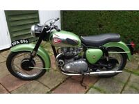 1961 BSA A7ss 500cc Original Registration number