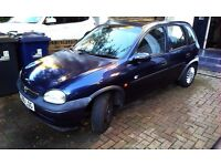 Vauxhall Corsa B Club 1.2 16V 1999 T reg 5 door hatchback. Dark blue