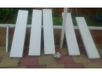 5 Wall Standing Radiators with a boiler