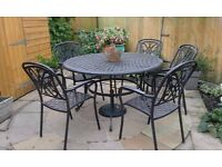 Metal Table & 6 Chairs