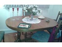 oak dinning table 6 chairs