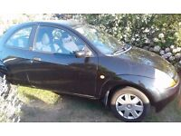 Ford KA,spares or repairs,black,CD player,electric windows,MOT until Oct,low insurance
