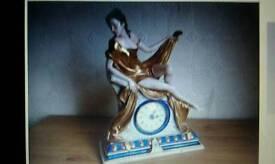 Capodimonte Clock of lady reclining