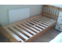 set of bunk beds in Honey pine foot inches Ideal for small room cheap price for quick sale.