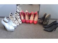 Ladies Shoes and Boots Size 6 and 7
