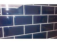 Atlantis blue metro wall tiles