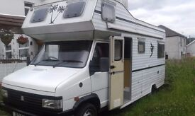 This motorhome is in good condition, good engine, tyres. Fridge, oven, 4 ring hob. Newly decorated.