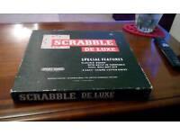 Scrabble De Luxe Game, Spears, Vintage, 1973, GOOD Condition
