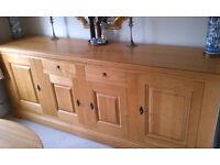 Carnac French Oak Sideboard, 4 Door, 2 Drawer