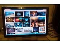 """HP gloss black 19"""" lcd monitor"""