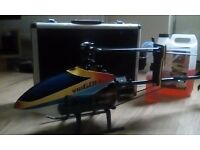 Rc helicopter nitro flybarless fully flying 3d stunt with transmitter