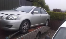 **** 2007 TOYOTA AVENSIS 2.0 D4D 6 SPEED FOR BREAKING ONLY ****