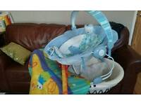 Baby basket, playmat and chair