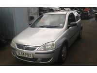 2004 Vauxhall Corsa 1.0 12v Life 3dr silver 157 2au BREAKING FOR SPARES