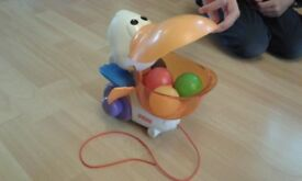 Fisher Price Pull and Pop Pelican Pre School Toy