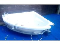 REDUCED PRICE Corner bath with jets