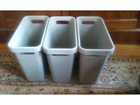 3 small recycle bins/storage bins