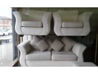 EX DISPLAY DFS CREAM LARGE SOFA SUITE DELIVERY FREE