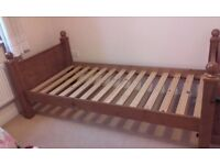 Good quality solid pine single bed