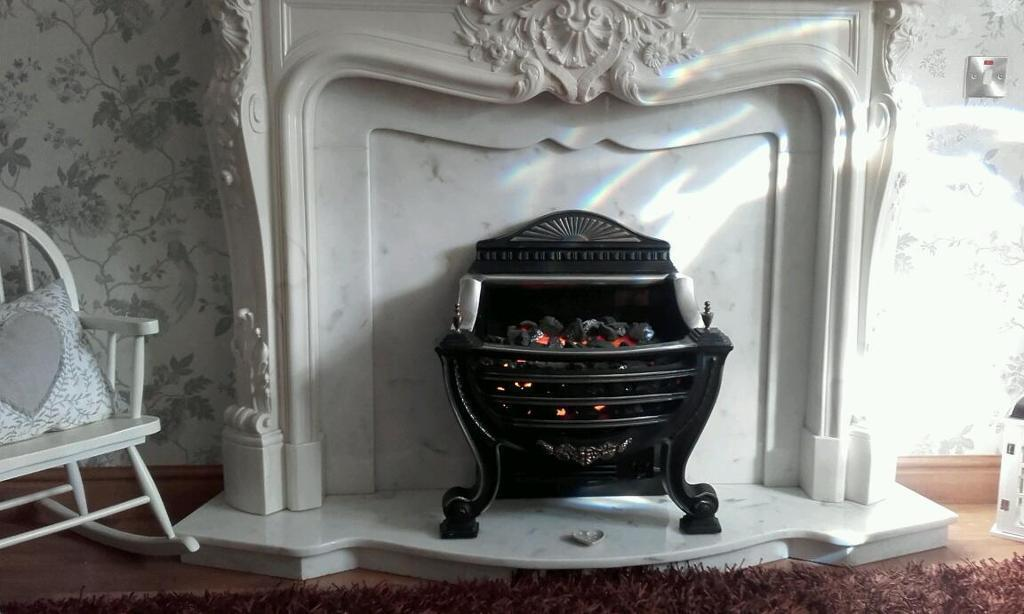 Beautiful fire surround and hearth