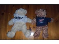 VALENTINE GIFT TWO BEANIE BEARS IN BASEBALL OUTFITS NBL OFFICIAL MECHADISE
