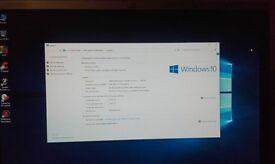 "Windows 10 Tower PC & 17"" Flat screen Monitor"