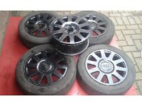 "5 Genuine audi monoblock 16"" audi a4 b5 a6 c6 golf alloy wheels golf passat caddy camper van etc"