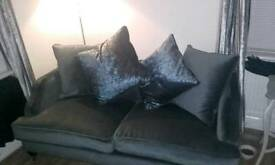 Set of 2, 2 seater grey couch