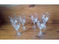 GENUINE CRYSTAL CUT (SET OF 6) LARGE WINE GLASSES