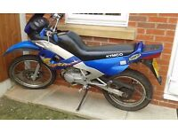 KYMCO STRYKER 125CC 4 STROKE ENDURO BIKES X2 BOTH X REG BLUE AND SILVER