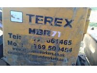 TEREX MBR 71, Pedestrian vibrating roller with carrier,