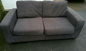 2 seater M&S brown sofa