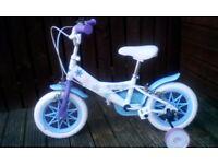 Girls 12 inch frozen bike