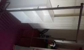 Clothes rack by IKEA - 'Portis'. Very good - excellent condition. 120 x 60 x 160 cm. 2 available.