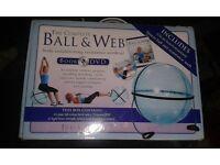 Gym ball and web. book and DVD