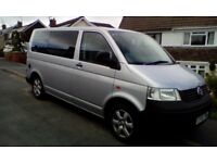 Vw transporter t28 2006 silver. full service history 12 months m.o.t newly converted 2018