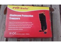 Prosafe Type A Chainsaw Trousers, Medium